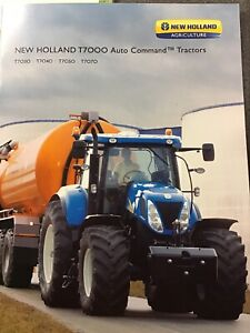 NEW HOLLAND T7000 Auto Command Tractor Brochure T7030 T7040 T7050 T7070