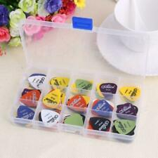 100pcs Acoustic Electric Guitar Picks Plectrum Various 6 thickness w/Pick Box