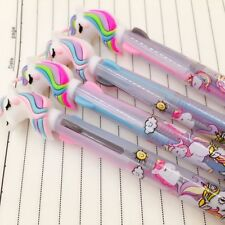 3 in 1 Colorful Pink Unicorn Head Ballpoint Pen Ball Point Pens Kids School Gift
