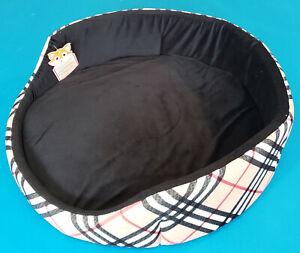 "Modern Soft Plush Pet Bed for Dogs.Triumph.Chocolate. Diameter 24"""