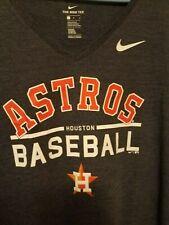 Nike Houston Astros Women's Practice V-neck T-shirt Size L