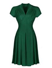 L Damenkleider mit V-Ausschnitt aus Baumwollmischung