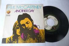 "PAUL MCCARTNEY(THE BEATLES)""ANOTHER DAY-DISCO 45 GIRI APPLE Italy 1971"""