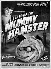 New listing Frankenweenie Curse of the Mummy Hamster Canvas Giclee Print Poster Sold Out