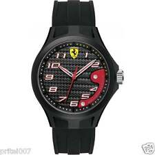 NEW ** Scuderia Ferrari Men's Black Rubber Lap Time Watch MODERN ** 2 Year WARTY