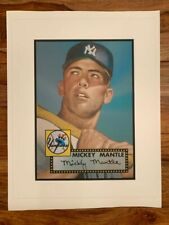 """1952 Topps Mickey Mantle 2007 Canvas Print 17"""" X 22"""""""