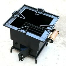 Iron wood Coal Square burning Kitchen use stove Sigri Fire pit Portable India