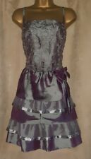 Two tone ladies lace/shimmer tiered strappy dress size 20 Christmas/NY party