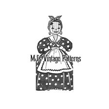 Vintage Mixer Cover Doll Pattern ~ Maid Doll