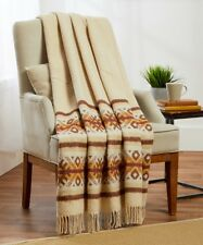 New 100% Cotton 55x79�Twin Throw Blanket with tassels, soft,warm and cozy, Beige