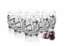 6 Trinkgläser 250ml Dreieck-Motiv Wassergläser Saftgläser Whiskygläser Gläserset