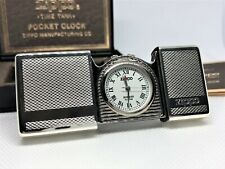 """ZIPPO Limited Edition """"Time Tank"""" Etched Pocket Watch w Backlight Silver"""
