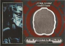 "Star Wars Chrome Perspectives - #21 of 30 Silver Helmet ""Tie Fighter Pilot"""