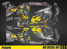 Kit Déco Quad / Atv Decal Kit Polaris Scrambler - Motor Skull Grey