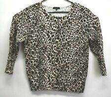 Verve Ami Women's Size XL Cheetah Print Long Sleeve Button Up Cardigan