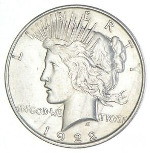 Early 1922-D Peace Silver Dollar - 90% US Coin *769