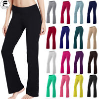 Women Bootcut Yoga Pants Bootleg Flare Trouser Workout Casual Fitness Loungewear