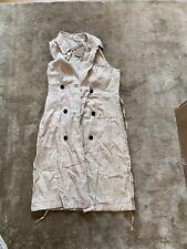 Mango Casual 100% Linen Pinstripe Sleeveless Compfy Dress Size S  , Box A