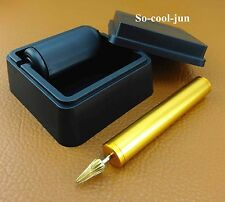 2pcs Leather Craft Table Top Pro Edge Dye Dyeing Roller Applicator Tool Kit Set