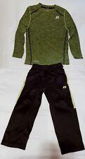 Russell Dri-Power 360 Track Set 2pc -Color(s): Black/Green - Size: XS/4-5 *EUC*