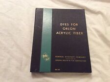 Vtg Orlon fabric Color Card swatches General dyestuff book of 84 color swatches