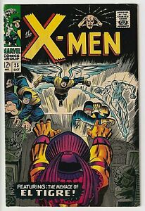 X-Men # 25 F+ 6.5 1st App and Origin of El Tigre VERY NICE, SOLID COPY WOW !
