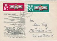 Germany DDR 1970 Planes & Tank Pic Weapons Brotherhood Stamps FDC Cover Rf 30275