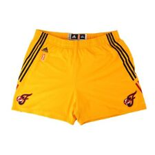 Indiana Fever Adidas Authentic On-Court Team Issued WNBA Gold Shorts Women's