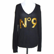 WILDFOX Love Potion NO. 9 Black Gold Sweater size XS