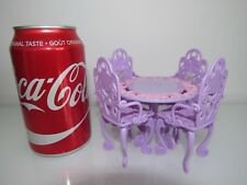 MATTEL MINI PATIO BISTRO TABLE/CHAIRS FOR/FITS TINY BLYTHE SIZE DOLLHOUSE DOLL