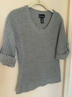 LOVE ALWAYS GRAY KNIT SWEATER  JUNIORS SIZE S