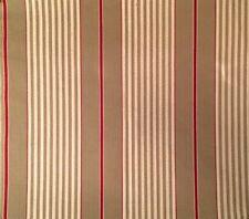 DESIGNERS GUILD Talera Stripe Cream Red Remnant New