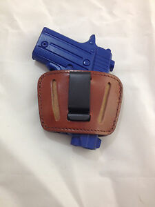 Leather Concealment Gun Holster - Colt MUSTANG 380, Springfield 911,  (# 1036)
