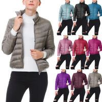 Women's Packable Winter Pockets Ultra Light Weight Short Duck Down Jacket Coat