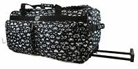 New Girls Hand Hearts Luggage Holdall Wheeled Cabin Bag Suitcase - HAND LUGGAGE