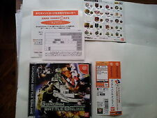 GUNDAM BATTLE ONLINE JAP JAPANESE JP SEGA JAPAN DC DREAMCAST GAMES