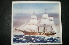SAVANNAH  Trans-Atlantic  Paddle Steamer  Vintage 1930's Picture Card