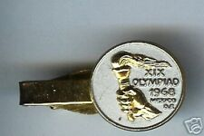 old tie bar 1968 MEXICO Olympics HALLMARKED gp en