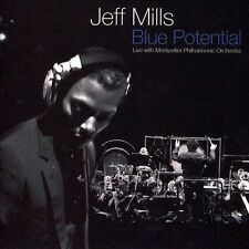 Blue Potential by Jeff Mills (CD, 2006, 2 Discs, Uncivilized) Free Ship #EE91
