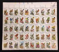 Vintage Mint OG USPS Stamp Sheet Fifty State Bird Issue .20 Scott 1953A B2