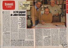 Coupure de presse Clipping 1986 Jacques Morel André Falcon (2 pages)