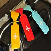 Colorful Travel Waterproof PVC Luggage Tags ID Card Bag Suitcase Label Tags WA