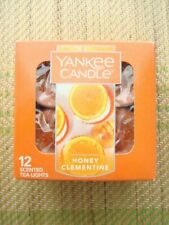 YANKEE CANDLE TEALIGHTS   HONEY CLEMENTINE    BOX OF 12  ~NEW~