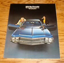 Original 1970 Chevrolet Full Size Car Sales Brochure 70 Chevy Caprice Impala
