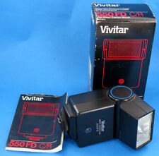 Vivitar 550FD C/R Shoe Mount Camera Electronic Flash For Canon FD und Ricoh XR