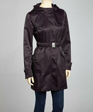 Jessica Simpson Hooded Belted Trench Rain Coat – Size Large - Aubergine