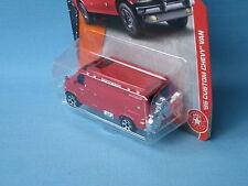 Matchbox 1995 Chevy Van Red Fire Rescue Toy Model Car in BP 75mm Bike