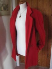 Ladies womens DESIGN ESSENTIALS size UK 18 20 PURE NEW WOOL red blazer over COAT