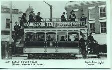 Pamlin repro photo postcard M491 Early Dover Tram