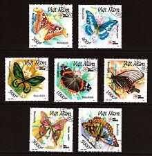 papillons Jeu de 7 CTO timbres 1994 VIETNAM #2303-9